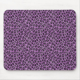 Purple animal print mouse pad