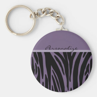 Purple Animal Print Template Keychain