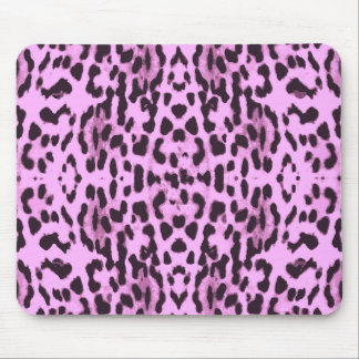 Purple animal skin print pattern mouse pad