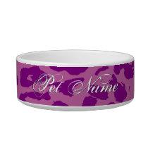 Purple animal skin texture of leopard bowl