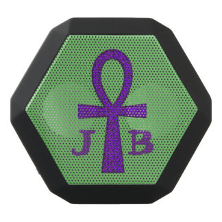 Purple Ankh Black Bluetooth Speaker