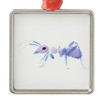 Purple Ant Metal Ornament