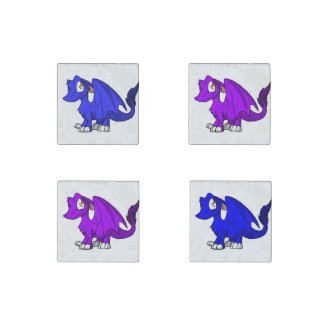 Purple/Any Color SD Furry Dragons Stone Magnets