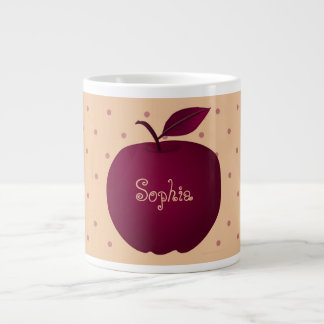 Purple Apple Romantic Polka Dots Pale Personalized Giant Coffee Mug