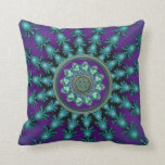 Purple Aqua Celtic Mandala Throw Pillow