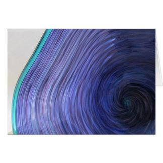 Purple Aqua Glass Bowl Card