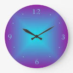 Purple/Aqua Illuminated Printed  Design Wall Clock