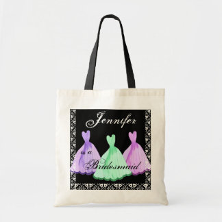 PURPLE AQUA MAGENTA  Bridesmaid Dresses Tote Bag