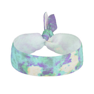 Purple, Aqua N Yellow Tie-Dye Hair Tie