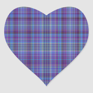 Purple Aqua Plaid Sticker