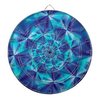 Purple & Aqua Spiral Fractal Dart Board
