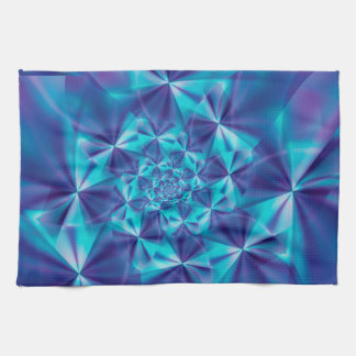 Purple & Aqua Spiral Fractal Kitchen Towel