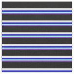[ Thumbnail: Purple, Aquamarine, Blue, Mint Cream & Black Fabric ]