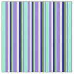 [ Thumbnail: Purple, Aquamarine, Green, Dark Blue & White Fabric ]