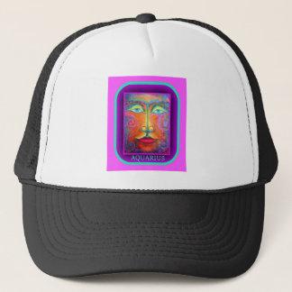 Purple Aquarius Birthday Gifts by Sharles Trucker Hat