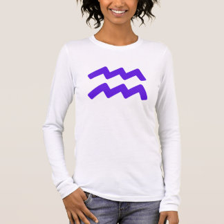 Purple Aquarius Symbol Long Sleeve T-Shirt