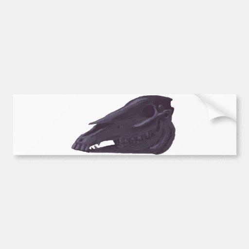 Purple Arabian horse skull bumper sticker