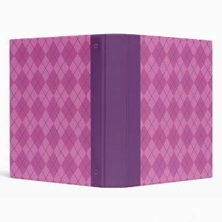 Purple Argyle Binder
