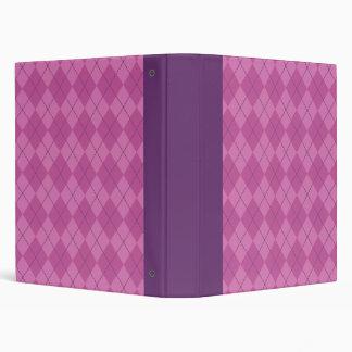 Purple Argyle Binder
