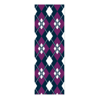 Purple Argyle Bookmark Pack Of Skinny Business Cards