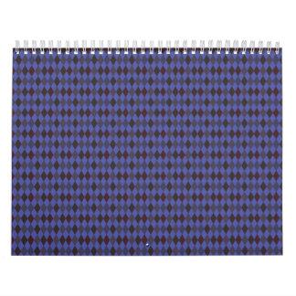 purple argyle wall calendars