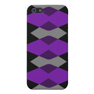 Purple Argyle Cases Covers For iPhone 5