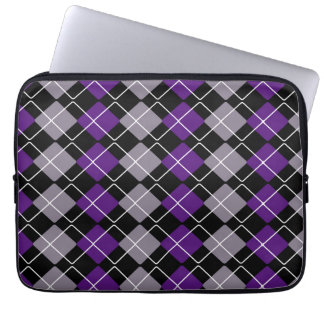 Purple Argyle Laptop Sleeves