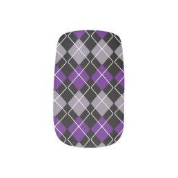 Purple Argyle Minx Nail Art