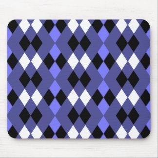 Purple argyle mouse pad