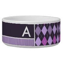 Purple Argyle Pattern Bowl