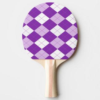 Purple Argyle Pattern Ping-Pong Paddle