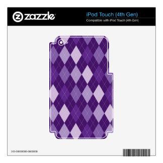 Purple argyle pattern iPod touch 4G decals