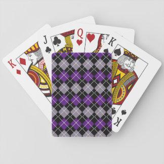 Purple Argyle Playing Cards