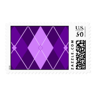 Purple Argyle Postage