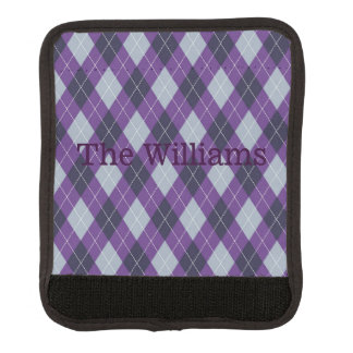 Purple Argyle Suitcase Handle Cover Luggage Handle Wrap