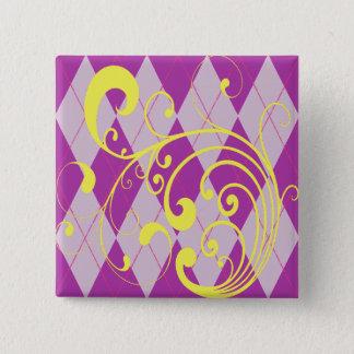 Purple Argyle Swirl Button