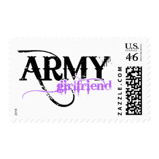 Purple Army Girlfriend Postage Stamp
