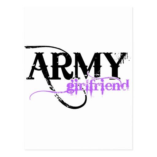 Purple Army Girlfriend Postcards