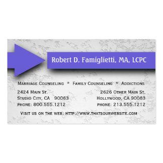 Purple Arrow Counseling Service Business Card
