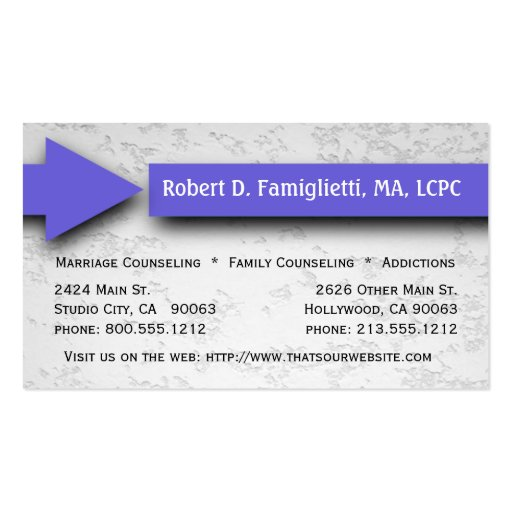 1 000 Counseling Business Cards and Counseling Business