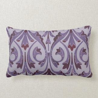 Purple Art Nouveau Swirls Throw Pillow