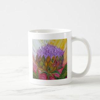 Purple Artichoke Blossom Coffee Mug