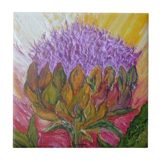 Purple Artichoke Blossom Tile