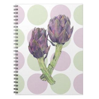 Purple Artichoke dots Notebook