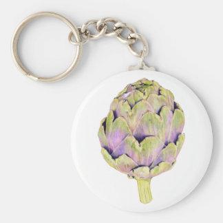 Purple Artichoke Keychain