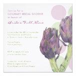 Purple Artichokes dots Bridal Shower Invitation