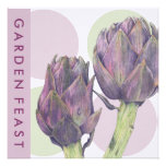 Purple Artichokes dots Garden Feast Invitation