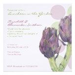 Purple Artichokes dots Luncheon Invitation