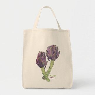 Purple Artichokes Party Favors Organic Bag