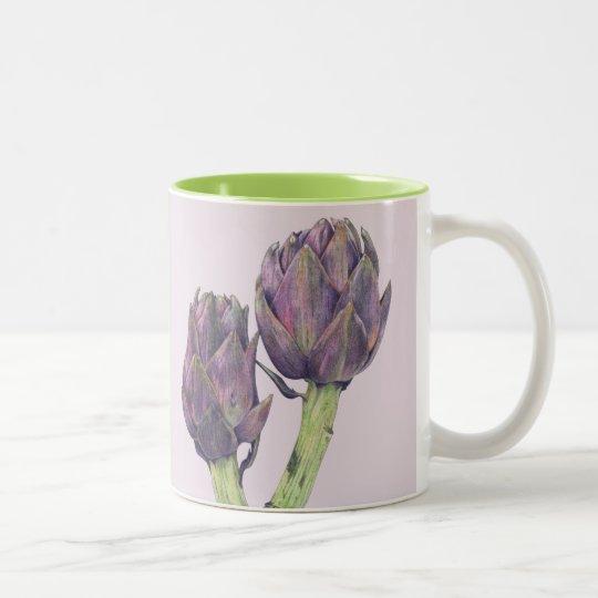 Purple Artichokes purple green Mug